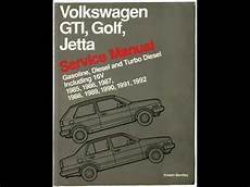 free online auto service manuals 1986 volkswagen golf electronic toll collection volkswagen bentley service manual a2 mk2 golf jetta gas and diesel youtube