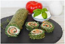 fingerfood deluxe low carb lachs spinat rolle food