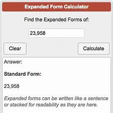 expanded form calculator