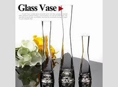 Hand blown glass vases manufacturer clear glass flower