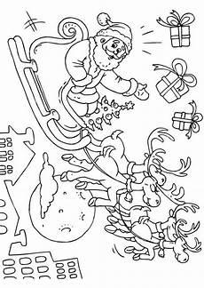 malvorlage weihnachtsmann schlitten malvorlage weihnachtsmann und schlitten ausmalbild 23379