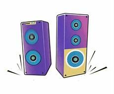 Rocknroll Speaker Gambar Bergerak Animasi Gambar