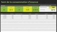 Journal De Consommation D Essence Tableau Excel