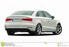 White Car Rear View Stock Image Image Of Metallic
