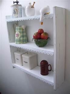 etagere shabby 60cm shabby chic shelves with lace trim shelf bookcase