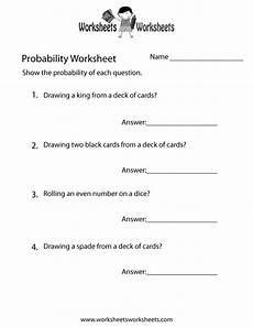 probability questions worksheet with answers 5984 free printable simple probability worksheet