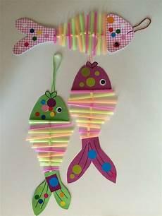 fische basteln mit kindern strohhalm fische basteln kg basteln bastelideen