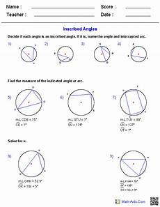 inscribed angles worksheets geometry worksheets angles worksheet geometry angles