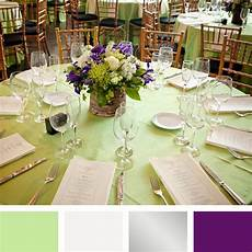 mint green silver and purple color palette