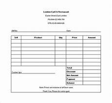 manual receipt template 18 restaurant receipt templates doc pdf free