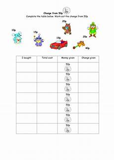 money worksheets change from 50p 2103 money key stage 1 resource pack by bestprimaryteachingresources teaching resources tes