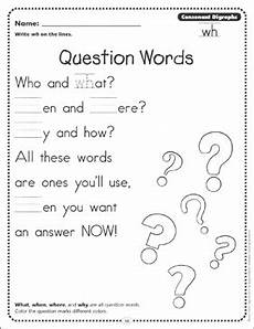 question words consonant digraphs wh phonics page printable skills sheets