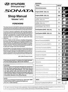 service manuals schematics 2009 hyundai sonata electronic throttle control 2009 hyundai sonata repair shop manual 2 volume set original