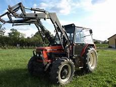 traktor allrad frontlader zetor 7745 allrad und frontlader