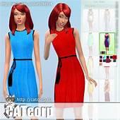 TS4 Dress 001 Free At CATcorp &187 Sims 4 Updates