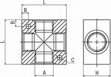 croix de distribution en aluminium 6040