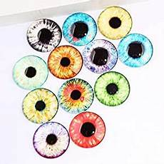Amazon Com 50pcs Mix Different Amazon Com Triangle Box Mix Pupil Eye Photo Round Glass