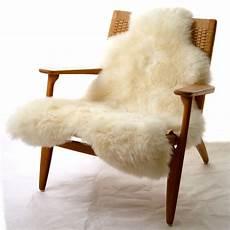 peau de mouton one moumoute sheepskin 65 x 110 cm hair blanc by