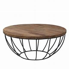 Table Basse Pied Metal Plateau Teck Massif Recycl 233 216 80cm
