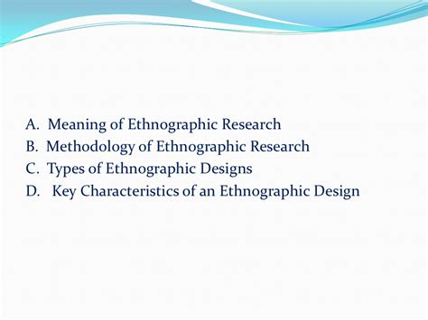 Ethnographic Research Case Study