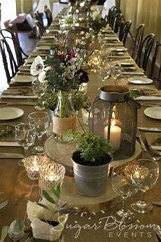 rustic vintage styled wedding styling centrepieces and menu place cards by sugar blossom