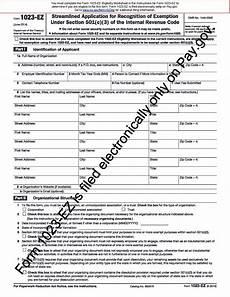 irs 501 c 3 application form instructions mbm legal