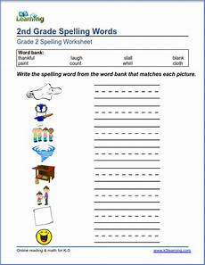 2nd grade spelling words worksheets second grade spelling worksheets k5 learning