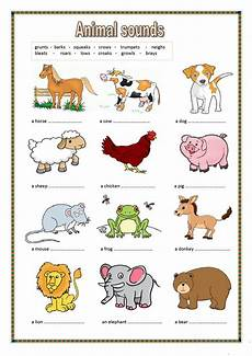 animals worksheets for primary 13865 animal sounds key included worksheet free esl printable worksheets made by teachers