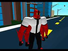 ben 10 transformation on roblox