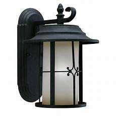 shop black finish 1 light outdoor wall light free shipping today overstock 3613841