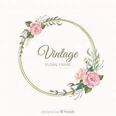 design fiori lovely floral frame with vintage design vector free