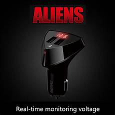 Mobile Phone Charger Real Time Dynamic by Universal Smart Real Time Monitoring Voltage Car Charger