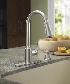 menards moen kitchen faucets moen 174 bayhill one handle pull kitchen faucet with