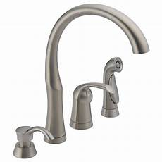 where to buy kitchen faucets single handle kitchen w soap dispenser and spray 11946 sssd delta faucet