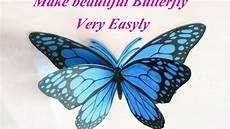 How To Make 3d Butterfly Using Paper