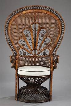 rattan armchair with quot emmanuelle quot backrest