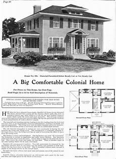 gordon van tine house plans 1918 classic colonial revival gordon van tine kit homes