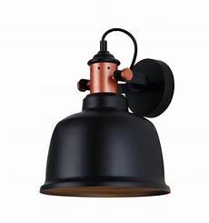 applique murale industrielle applique murale loft design en cuivre avec abat jour noir