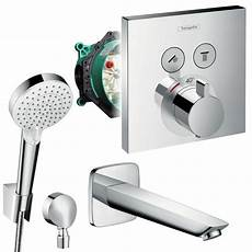 Hansgrohe Duscharmatur Thermostat - hansgrohe unterputz wannen set shower select thermostat