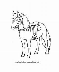 Einfache Malvorlage Pferd Ausmalbilder Pferde Bild Pferd Mit Sattel Ausmalbilderhq