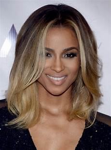 ciara latest shoulder length ombre hairstyle with layers