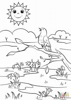 spring coloring page free printable coloring pages