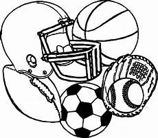 sports coloring pages printable 17726 sports equipment football baseball basketball soccer coloring page wecoloringpage