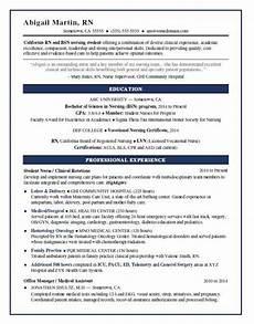 nursing student resume sle monster com