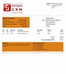 bon de commande et facture copie 233 cran logiciel simple crm mod 232 les de devis bons de