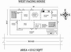 west facing house plan as per vastu shastra cadbull