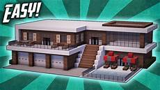 Minecraft How To Build A Modern Mansion House Tutorial