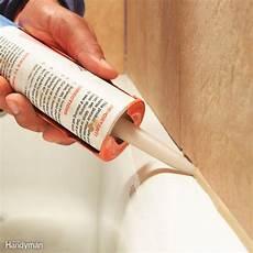 bathroom caulk colors bathtub caulking tips the family handyman
