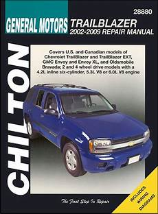 manual repair free 2002 chevrolet trailblazer auto manual trailblazer envoy bravada repair manual 2002 2009 chilton
