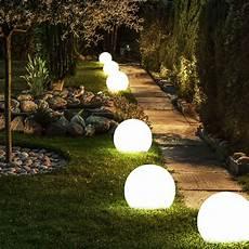 leuchten garten 2 x led solar kugel len garten nacht licht au 223 en steck